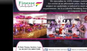 FINESSE EVENTS SERVICES – DECORATORS – SURULERE
