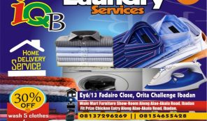 IQB LAUNDRY SERVICES – DRY CLEANER – IBADAN